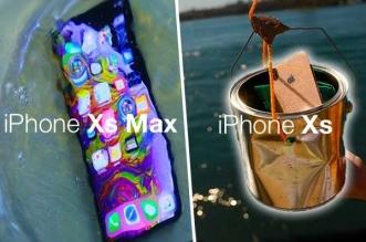 crash test drop resistance etanche chutes iphone xs max
