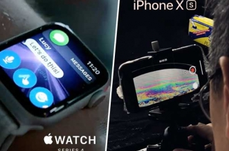 pub iphone xs apple watch serie 4 video photo