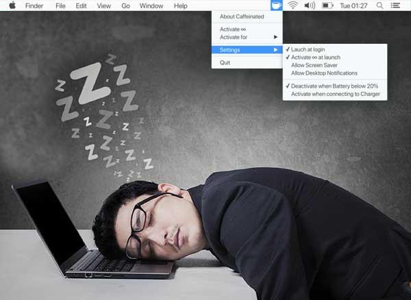 caffeinated anti sleep app macos mac