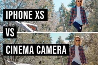 comparatif iphone xs max camera video canon c200