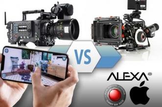 comparatif iphone xs max vs camera video pro red arri alexa