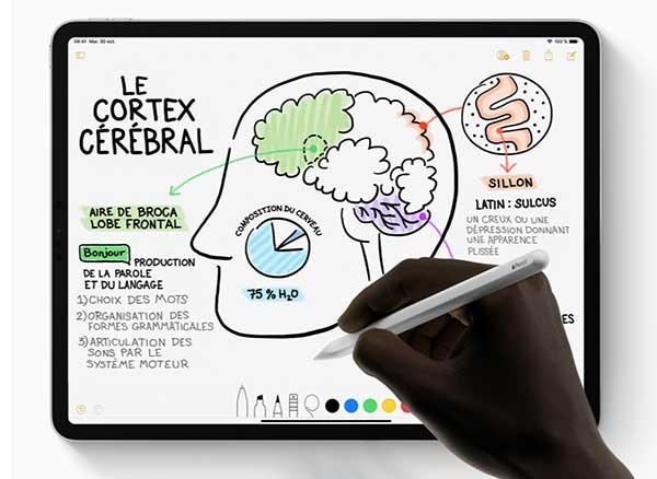 nouveau ipad pro 11 12 2018 apple pencil stylet magnetique tactile