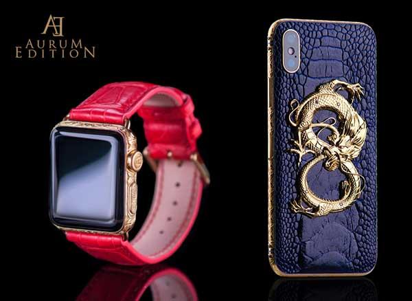 aurum edition apple watch iphone xr max gold or luxe 5 - Luxueux iPhone XR Max et Apple Watch en Or Gravé (images)