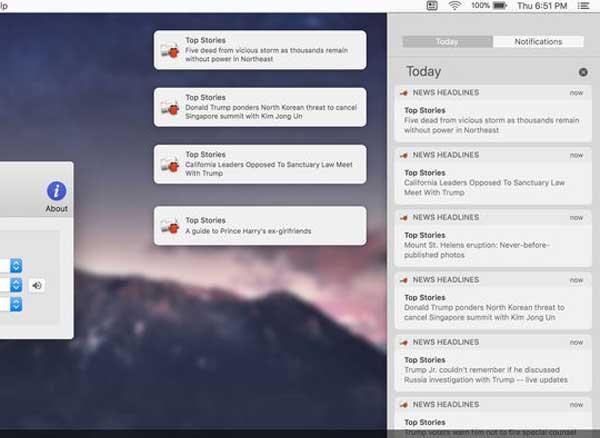 news headlines macos mac 3 - News Headlines Mac - Google Actualités dans Menu du Finder (gratuit)