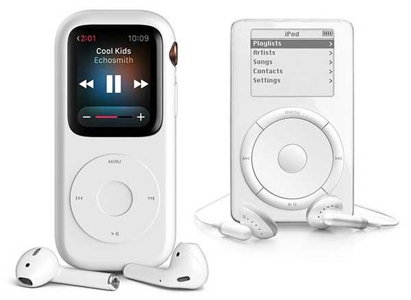 pod case montre apple watch series concept