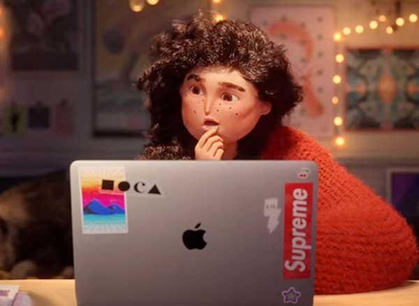 pub apple noel fete animation pixar style video