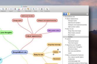 simplemind lite mind mapping macos mac gratuit