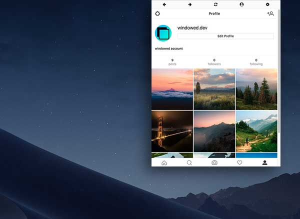 windowed mac pc macos gratuit 1 - Windowed Mac PC - Client Instagram Multi-Comptes (gratuit)