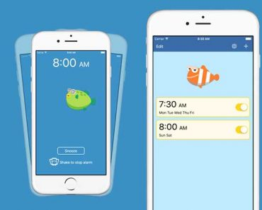 cozy alarm iphone 1 370x297 - Cozy Alarm iPhone - Réveillez-vous en Secouant des Poissons (gratuit)