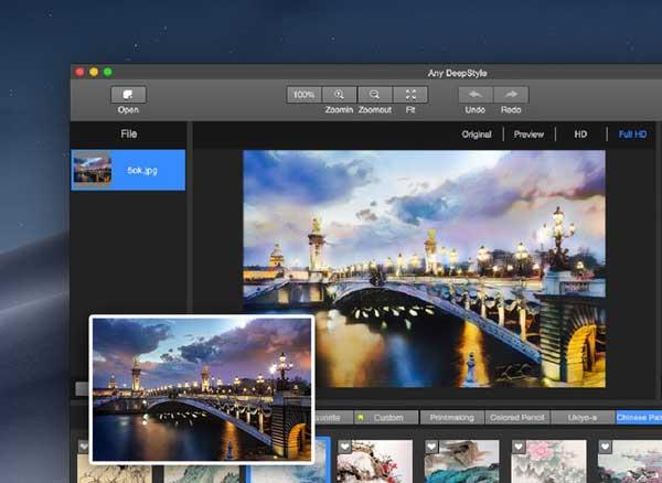 deepstyle photo art filters mac macos 1 - DeepStyle Mac - Transforme vos Photos en Peintures d'Art (gratuit)