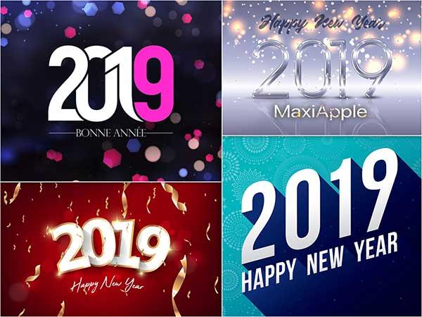 fond ecran bonne annee maxiapple 2019 0 - 101 Meilleurs Wallpapers 'Bonne Année 2019' Mac PC (gratuit)