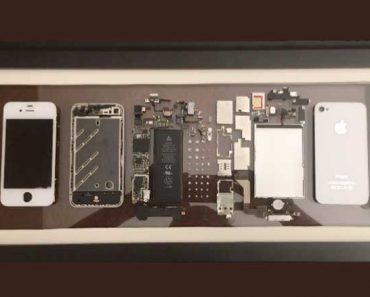 iphone pieces hs art encadrement cadre 1 370x297 - Son iPhone ne Marche Plus, il le Démonte et l'Encadre (video)