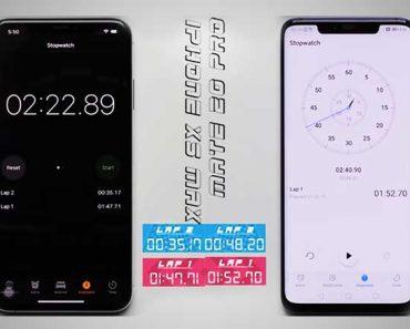 iphone xs max huawei mate 20 pro comparatif vitesse 370x297 - Le Huawei Mate 20 Pro se Fait Doubler par l'iPhone XS Max (video)