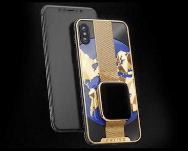 iphone xs max montre apple watch incrustee caviar 1 370x297 - Un iPhone XS Max en OR Fusionne avec l'Apple Watch (video)