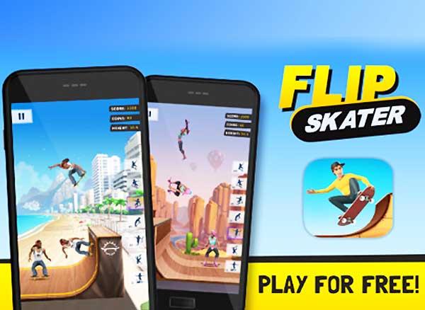 jeu flip skater iphone ipad