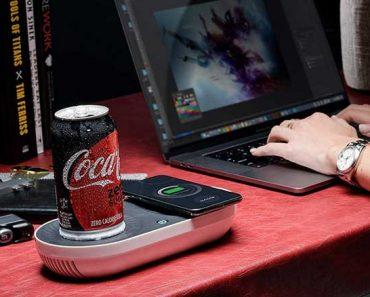nomodo chargeur sans fil plaque chauffante refroidisseur 1 370x297 - Nomodo, Recharge l'iPhone, Réchauffe ou Refroidit votre Boisson (video)