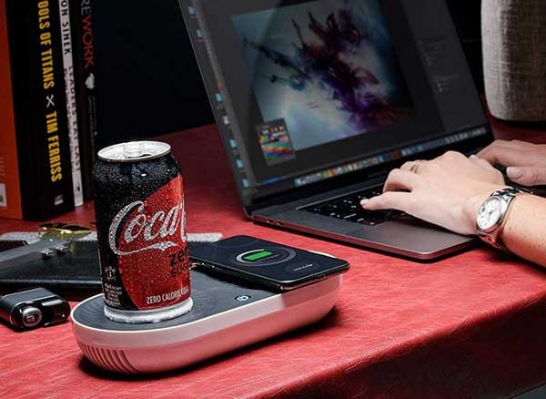 nomodo chargeur sans fil plaque chauffante refroidisseur 1 - Nomodo, Recharge l'iPhone, Réchauffe ou Refroidit votre Boisson (video)