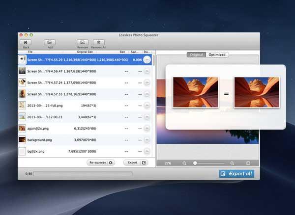 photo size optimizer macos mac 1 - Photo Size Optimizer Mac - Redimensionner et Optimiser vos Images (gratuit)