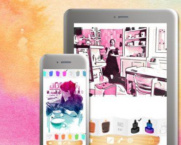 popsicolor iphone ipad 370x297 - Popsicolor iPhone iPad - Transformer vos Photos en Aquarelle (promo)