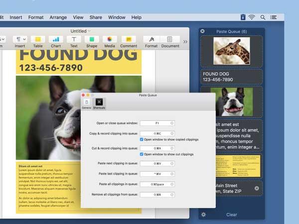 aste queue multi clipboard macos mac 1 - Paste Queue Mac - Gestionnaire de Presse-Papier Multifonctions (gratuit)