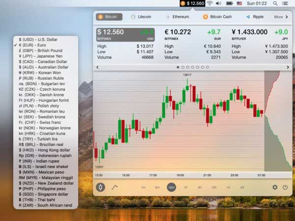 bitcoin monitor x macos mac 1 - Bitcoin Monitor X Mac - Cours des Cryptomonnaies et Convertisseur (gratuit)