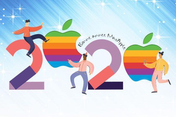 bonne annee 2020 maxiapple apple logo 600x400 - Bonne Année 2020 Maxi Apple à toutes et à tous !