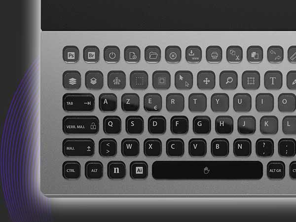 clavier personnalisable touche e ink nemeio ldlc mac pc 4 - LDLC Nemeio, un Clavier à Touches e-Ink Configurables (video)