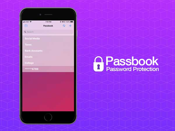 passbook password protection iphone ipad1 - Passbook iPhone iPad - Gestionnaire de Mots de Passe Simplifié (gratuit)