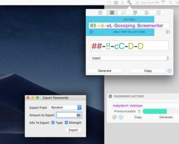 password factory macos mac ios iphon ipad 1 370x297 - Password Factory macOS iOS - Générateur de Mots de Passe Sécurisés (gratuit)