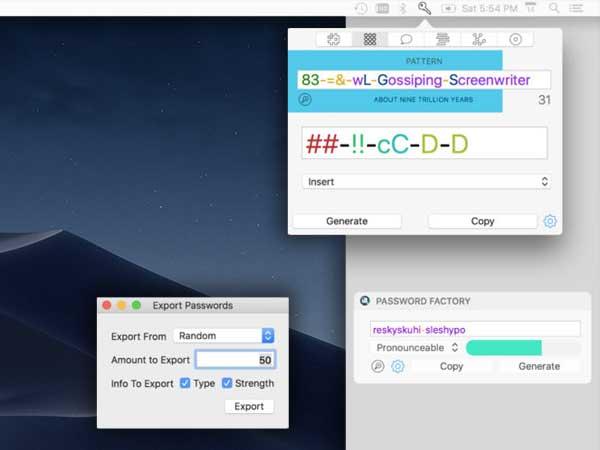 password factory macos mac ios iphon ipad 1 - Password Factory macOS iOS - Générateur de Mots de Passe Sécurisés (gratuit)