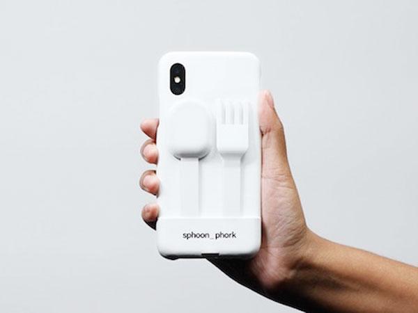 sphoon phork protection iphone fourchette cuillere 2 - Insolite Protection iPhone XR avec Fourchette et Cuillère (video)