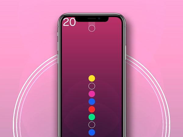 color waves iphone ipad 1 - Color Waves iPhone iPad - Jeu aux Couleurs Mélodiques (gratuit)