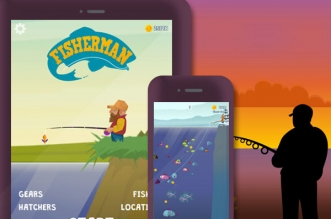 ketchapp fisherman jeu iphone ipad 331x219 - Fisherman iPhone iPad - Simulation de Pêche à la Ligne (gratuit)