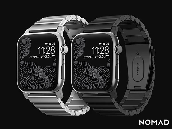 nomad bracelet maillons titanium montre apple watch 1 - Bracelet en Titane à Maillons Massifs pour Apple Watch 4 (images)