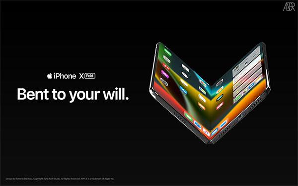 antonio de rosa concept iphone x pliable fold 1 - L'iPhone X se Prend pour le Galaxy Fold Pliable (video)
