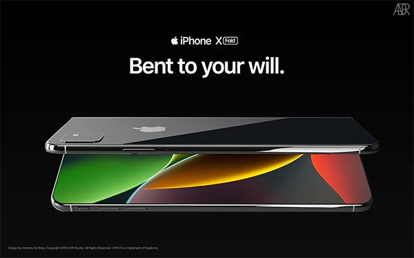 antonio de rosa concept iphone x pliable fold 4 - L'iPhone X se Prend pour le Galaxy Fold Pliable (video)