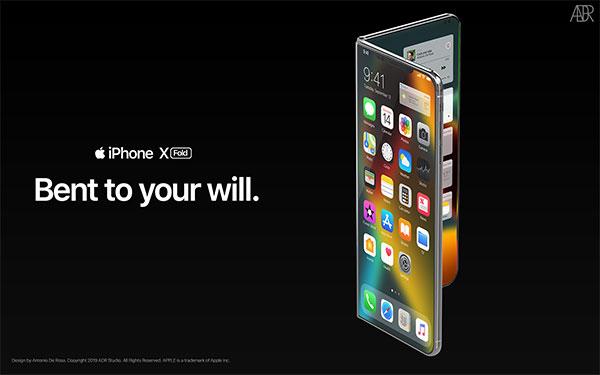 antonio de rosa concept iphone x pliable fold 6 - L'iPhone X se Prend pour le Galaxy Fold Pliable (video)