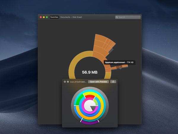 disk graph macos mac 2 - Disk Graph Mac - Vous Dit tout sur vos Disques et SSD (gratuit)