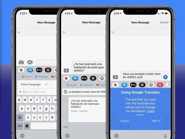 gboard iphone ipad gratuit 1 - GBoard iPhone iPad - Clavier Google Virtuel a son Traducteur (gratuit)