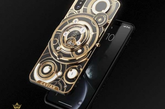 iphone xs montre grand complications tourbillon 1 331x219 - Caviar Met une Montre Tourbillon au dos de l'iPhone XS (video)