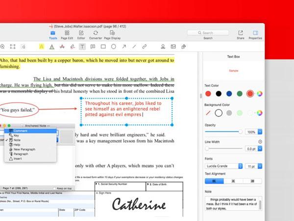PDF Reader Pro Mac - Convertir et Editer des PDF en  Doc et