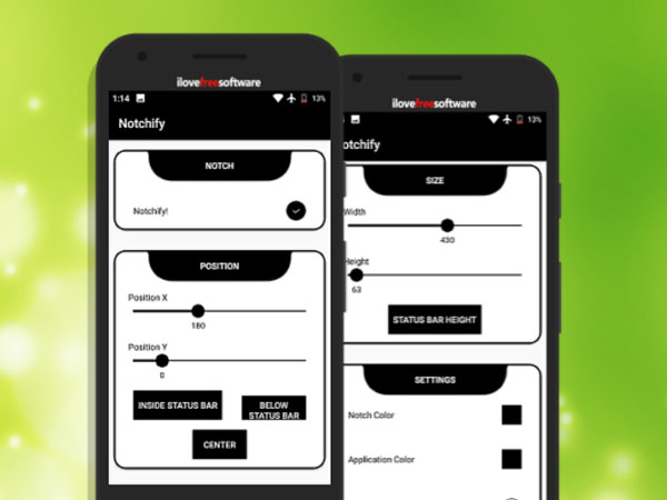 simulation encoche android iphone xr oneplus