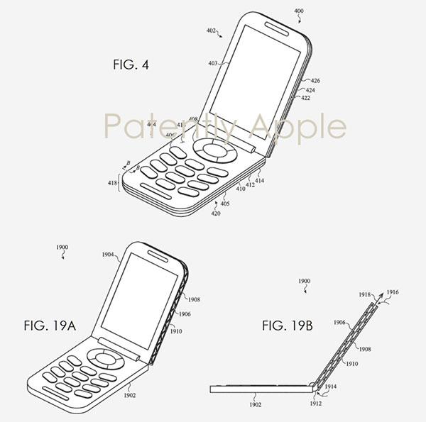 brevet officiel apple iphone xi a clapet 3 - iPhone XI à Clapet, l'Etrange Brevet Révélé en Images (video)