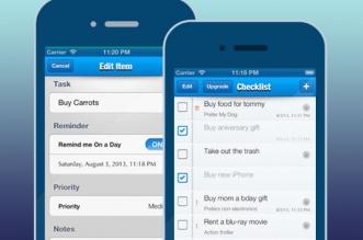 checklist to do list task management iphone 1 331x219 - Checklist iPhone - Gestionnaire de Listes de Tâches (gratuit)