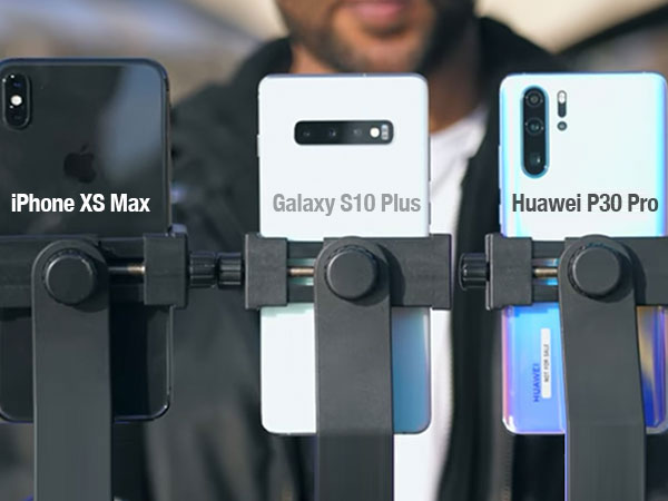 comparatif huawei p30 pro iphone xs max galaxy s10 0 - iPhone XS Max vs Huawei P30 Pro vs Galaxy S10 Plus Comparatif Capteur (video)