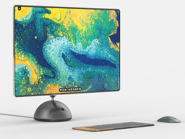 imac g4 boule tournesol concept 2019 1 - Retour de l'iMac Tournesol avec Ecran 27 Pouces (concept)