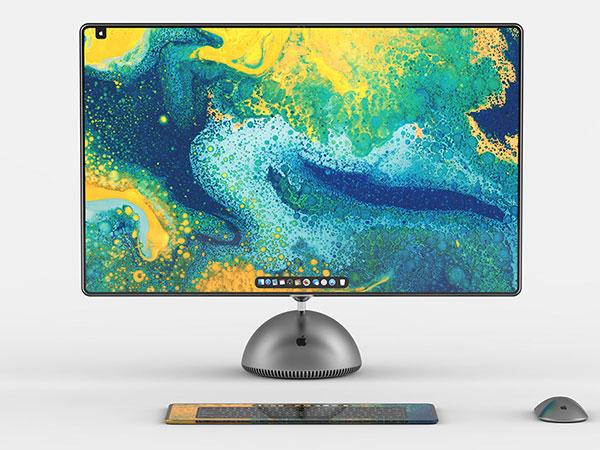 imac g4 boule tournesol concept 2019 5 - Retour de l'iMac Tournesol avec Ecran 27 Pouces (concept)
