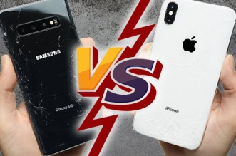 iphone xs max vs samsung galaxy s10 tests resistance 1 331x219 - Galaxy S10+ vs iPhone XS Max - Qui est le Plus Résistant ? (video)