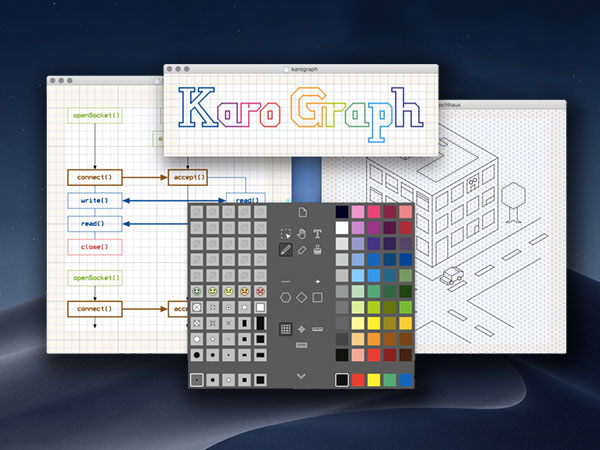 karo graph macos mac 1 - Karo Graph Mac - Outil de Dessin Technique Vectoriel (gratuit)