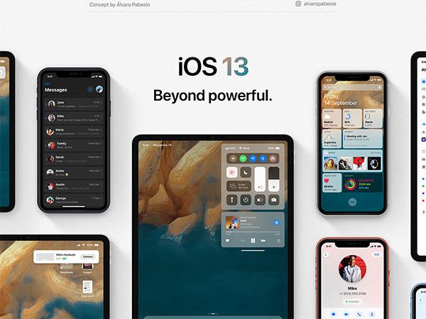 alvaro pabesio ios 13 concept iphone 1 - iOS 13 les Nouveautés Attendues en Concept (images)